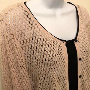 H&M delicate cardigan in blush with black trim